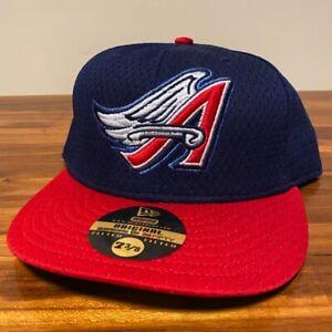 California Angels Hat Baseball Cap Fitted 7 3/8 New Era Vintage Retro Mesh BP