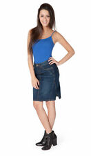 Knee-Length Denim Regular Size Skirts for Women