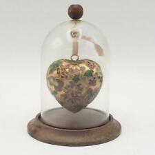 Heart Bell Jar Cloche Display Miniature