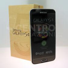 "SAMSUNG GALAXY S5 SM-G900F 16GB 5.1"" ORIGINALE NERO BLACK LTE 4G GARANZIA"