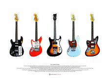 Kurt Cobain's Guitars ART POSTER A2 size