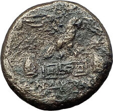 APAMEIA PHRYGIA 88BC Athena Gemini Caps Eagle Original Ancient Greek Coin i60010