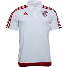 River Plate Football - 100% Cotton Polo Shirt by Adidas - Size Large - BNWT