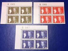 Greenland Marginal Block G045-047 1980 Queen Margrethe Definitives Complete MNH