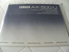 Yamaha AX-500/U Owner's Manual  Operating Instructions  New