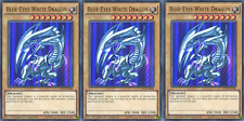 YUGIOH 3x Card Original Art Blue-Eyes White Dragon CT13-EN008 Ultra Rare Playset