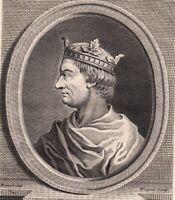Portrait XVIII Robert II Le Pieux Roi des Francs Capétiens Roberto II di Francia