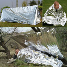 Folding Outdoor Emergency Tent Blanket Sleeping Bag Survival Camping Shelter ca