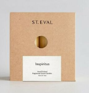 """St Eval """"INSPIRITUS"""" Scented Candle 10cm x 5cm. 4"""" x 2"""".   1 box of 2 candles"""