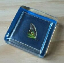 More details for vintage lucite fly fishing paperweight 6cm executive office desk gift acrylic