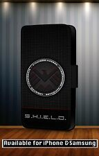 Marvel Avengers Agents of Shield Logo Leather Flip Phone Case Cover Y241