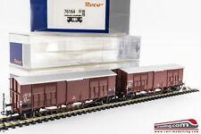 ROCO 76164 - H0 1:87 - Set da 2 carri merce Ghks passo lungo a tetto spiovente F
