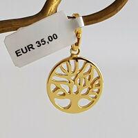 GOOIX Silber 925 vergoldet Charm Charms Anhänger NEU Lebensbaum 05821 gold 204