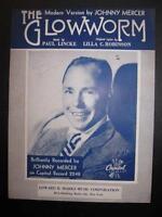 The Glow Worm Sheet Music Vintage 1952 Johnny Mercer Paul Lincke Modern Nice (O)