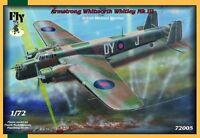 WHITLEY MK III (No. 10 & 102 RAF SQUADRON MARKINGS) 1/72 FLY
