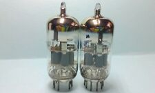 ONE Matched Pair AMPEREX Early 60'S  6DJ8 = ECC88 E88CC CV2493 CV2492 TUBES