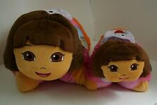 """Dora the Explorer 18"""" Pillow Pet & 11"""" Pee Wees With Backpack NWT Free Ship"""