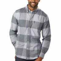 Ben Sherman Men Long Sleeve Button Down Stretch Woven Shirt