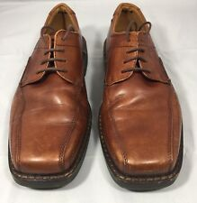 ECCO Brown Leather Men's Bicycle Toe Dress Oxfords Shoes Size EU 40 US 6-6.5
