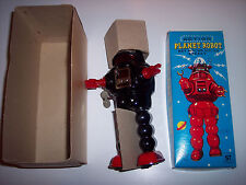 Mib Mint In Box 1970's Yoshiya Ko Japan Action Planet Robot Wind-up Robby Robbie
