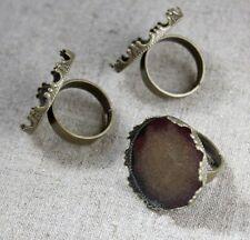 Bronce Antiguo anillo de latón 8 piezas base de configuración de componentes