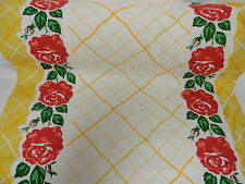 Vintage STYLE Kitchen Towel Fabric Moda Granny Rose Yellow  920121