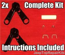Jeep Wrangler WINDOW ZIPPER REPAIR KIT Rear Side/ Back TJ 1996-2006 Slider    x2
