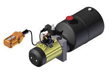 Hydraulic Supply Pump Unit 12V DC Power Up Gravity Down 6 Quart Steel 2500psi