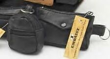 Set of 3 - Black GENUINE LEATHER Coin Purses/Wallets