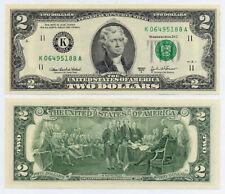 USA 2 Dollar 2003A Rare Federal Reserve Lucky Money Cash Note $2 (UNC)