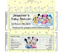 DISNEY BABIES BABY SHOWER candy bar wrappers Personalized Mickey Minnie Pluto