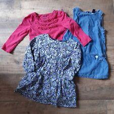 Baby Gap Toddler 18-24 Months Denim Corduroy Dress And Top Bundle