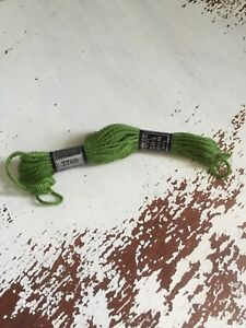 Tapestry 100% Wool Laine Colbert DMC France Lit Of 1 Green VTG