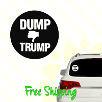 Dump Trump Vinyl Decal Window Sticker | Political Democrat Donald Anti-Trump 076