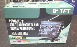 "9"" TFT- LCD PORTABLE TV ~ BUILT IN DVB -T TUNER  ~ USB MEDIA PLAYER"