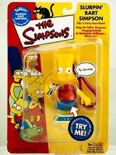 The Simpsons Slurpin Bart Simpson Action Figure Playmates Toys NIB Clip On