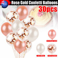 30X Rose Gold Confetti Wedding Balloons Birthday Party Marriage Decorations Gift
