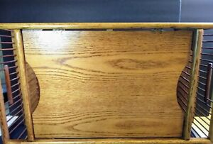 Vintage Wooden Breakfast Bed Tray with Reading Rack Adjustable Tray MCM