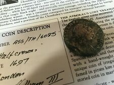 More details for 1697 william iii halfcrown hms association shipwrecked 1707 off scilly isles