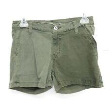 New Big Star Womens Remy Low Rise Olive Green Stretch Classic Summer Shorts - 28