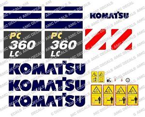 KOMATSU PC360LC -10 DIGGER DECAL STICKER SET