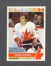 Serge Savard signed 1976 Canada Cup hockey card