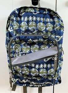 LL Bean Deluxe Book Backpack Kids School Blue Green Boy Girl EXCELLENT COND