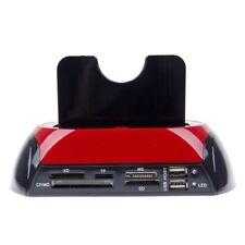 Docking Station 2 Hard Disks 2.5 3.5 Sata Ide USB 2.0 3.0 Lettore Sd