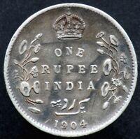 1 RUPEE 1904 INDE BRITANNIQUE / BRITISH INDIA (argent / silver)  roupie