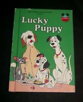 1978 Walt disney lucky puppy dalmatian dog picture story book h/c vintage