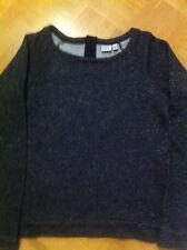 sehr guter Zustand! Esprit Pullover Sweatshirt schwarz grau gold Lurex Größe M