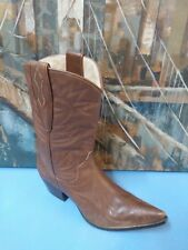Guess Women's Brown Leather Western Cowgirl Boots Size 7 M