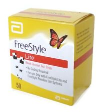 Freestyle Lite Test Strips - Blood Glucose Diabetic (x50)