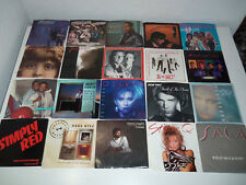 1980's Lot 30 ALL PROMO NM PS 45 's KENNY LOGGINS SMOKEY ROBINSON SIMPLY RED